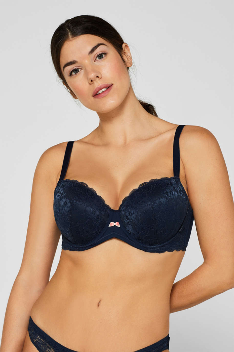 Bras with wire, NAVY, detail image number 0