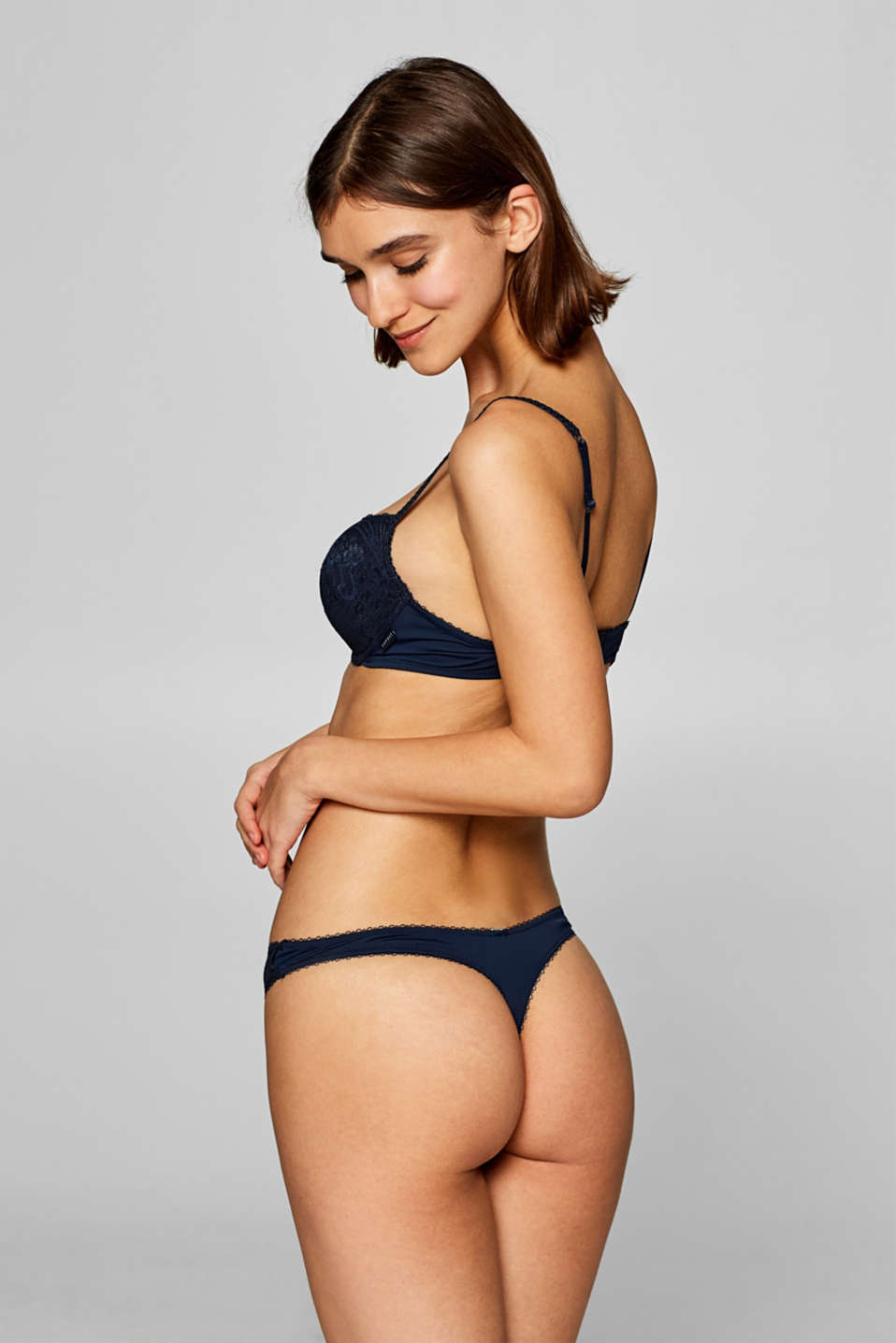 Bras with wire, NAVY, detail image number 1