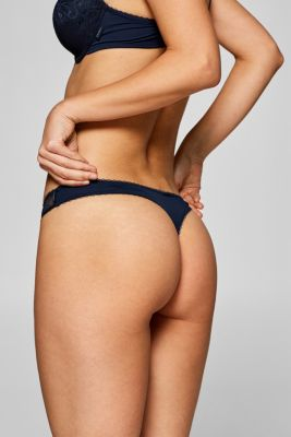 Filigree lace hipster thong