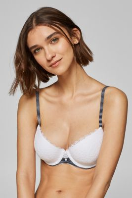 Padded, underwire bra with multi-way straps