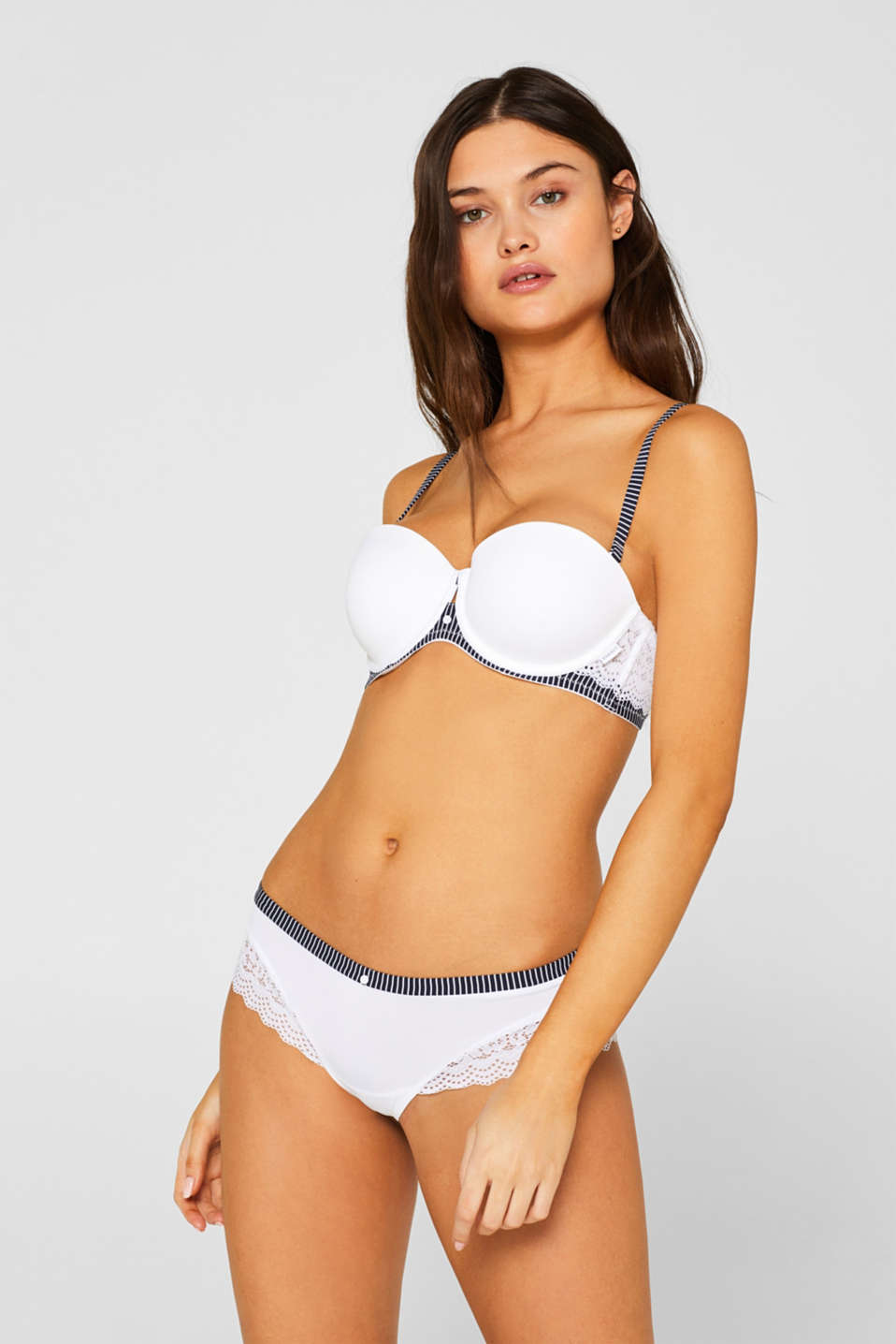 Esprit - Padded underwire bra with detachable straps