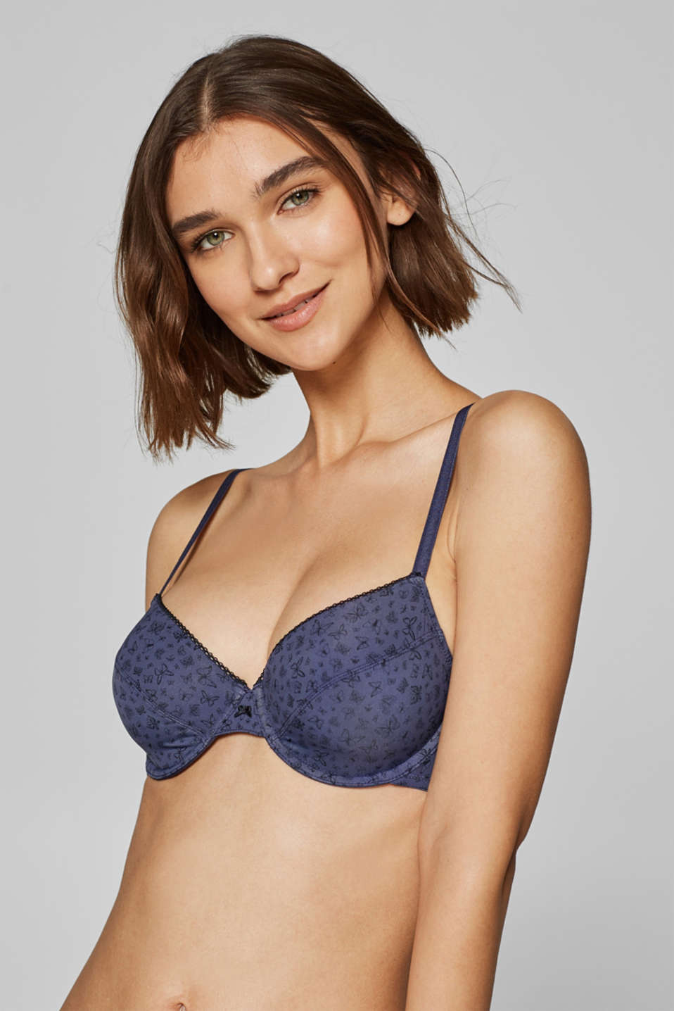 Esprit - Unpadded underwire bra with a butterfly print