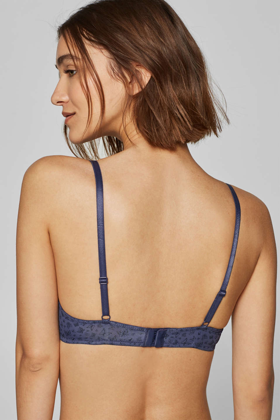 Bras with wire, GREY BLUE, detail image number 1