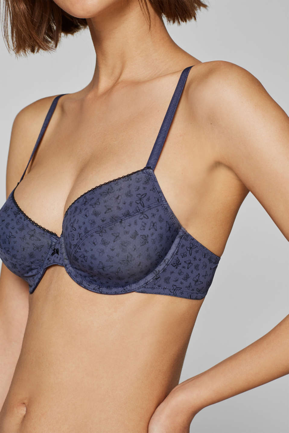 Bras with wire, GREY BLUE, detail image number 3