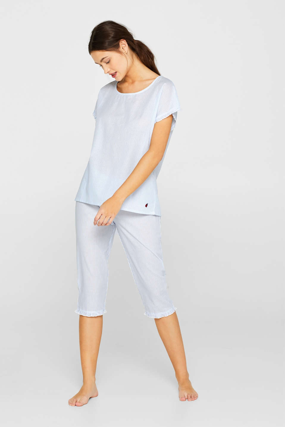 Esprit - Striped woven pyjamas, 100% cotton