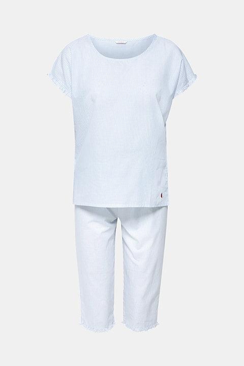 Striped woven pyjamas, 100% cotton