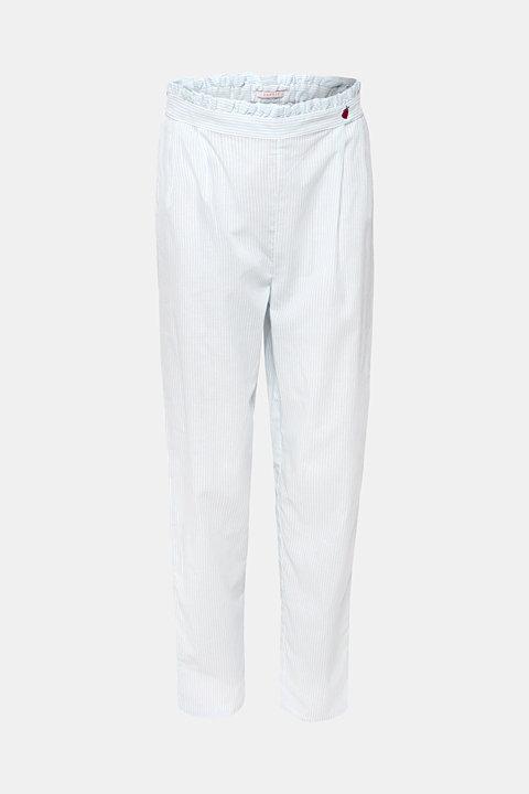 Striped woven pyjama bottoms, 100% cotton