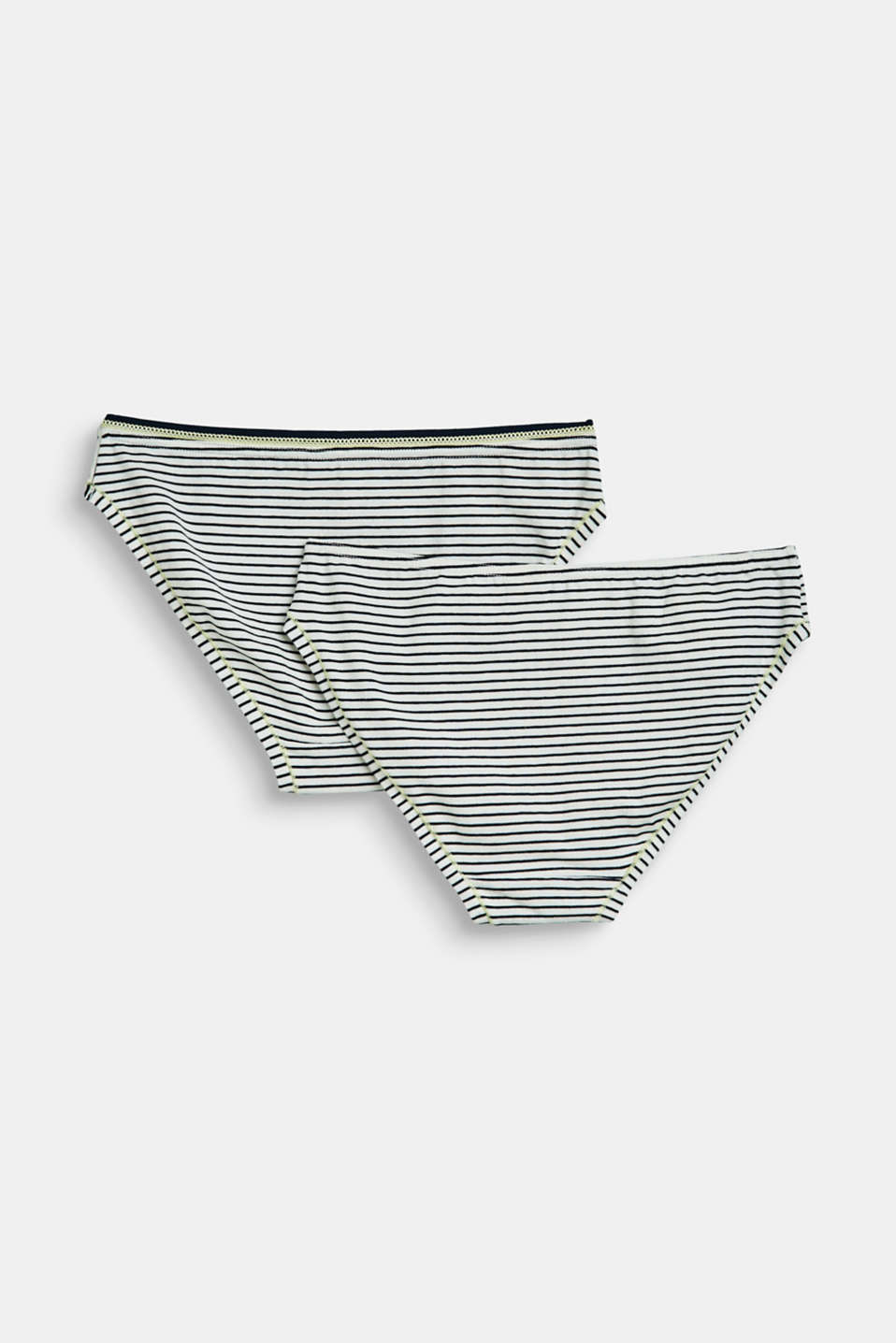 2-pack of briefs with a striped pattern, OFF WHITE, detail image number 2