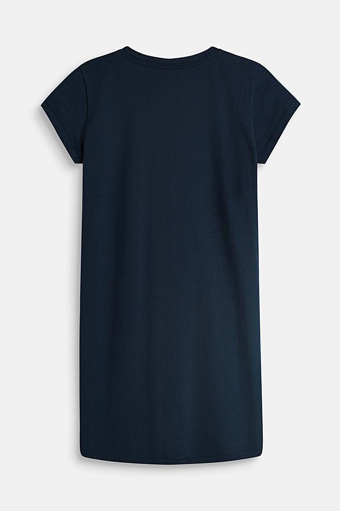Nachthemd mit Statement-Print, 100% Baumwolle, NAVY, detail image number 1