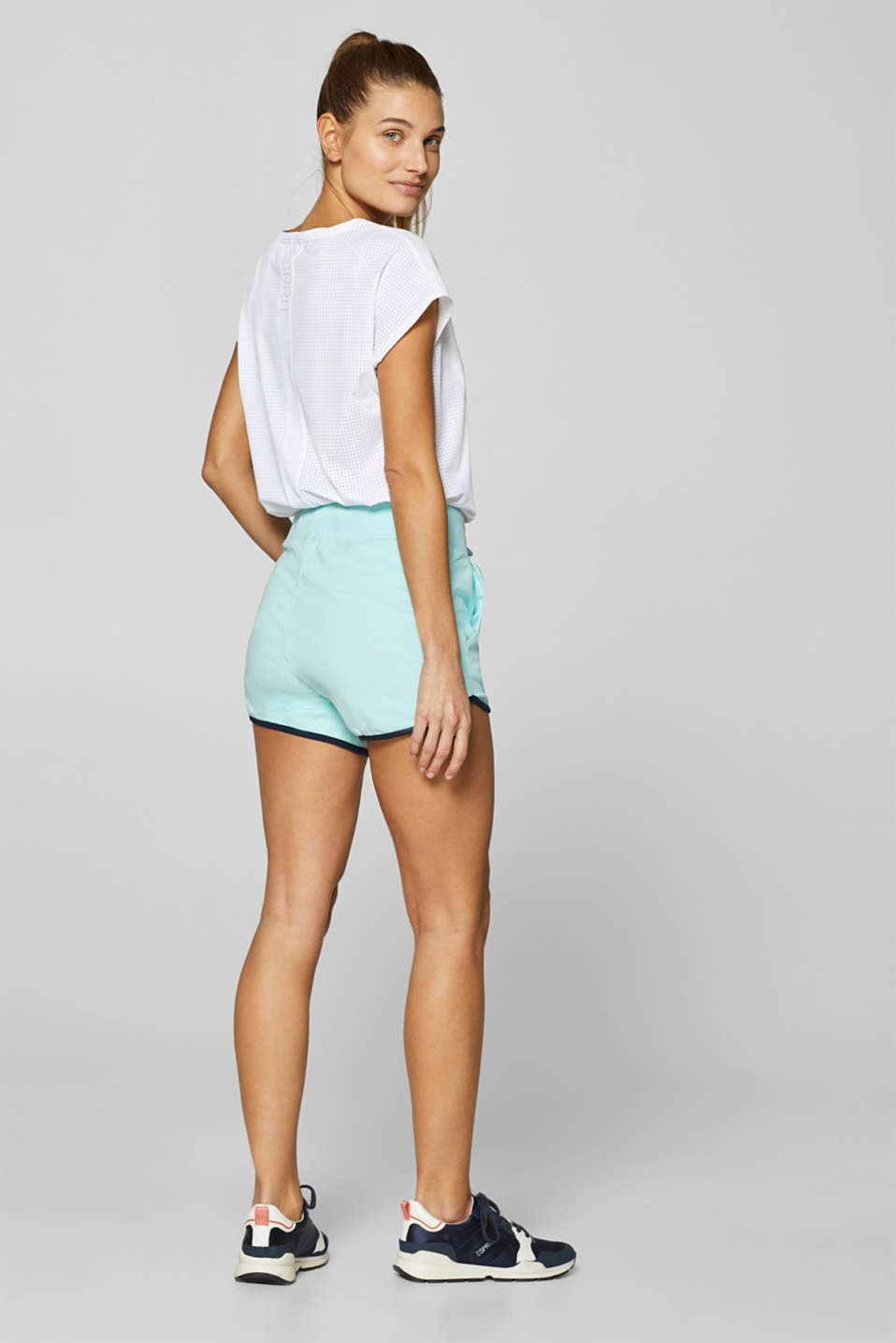 Shorts knitted, LIGHT AQUA GREEN, detail image number 2