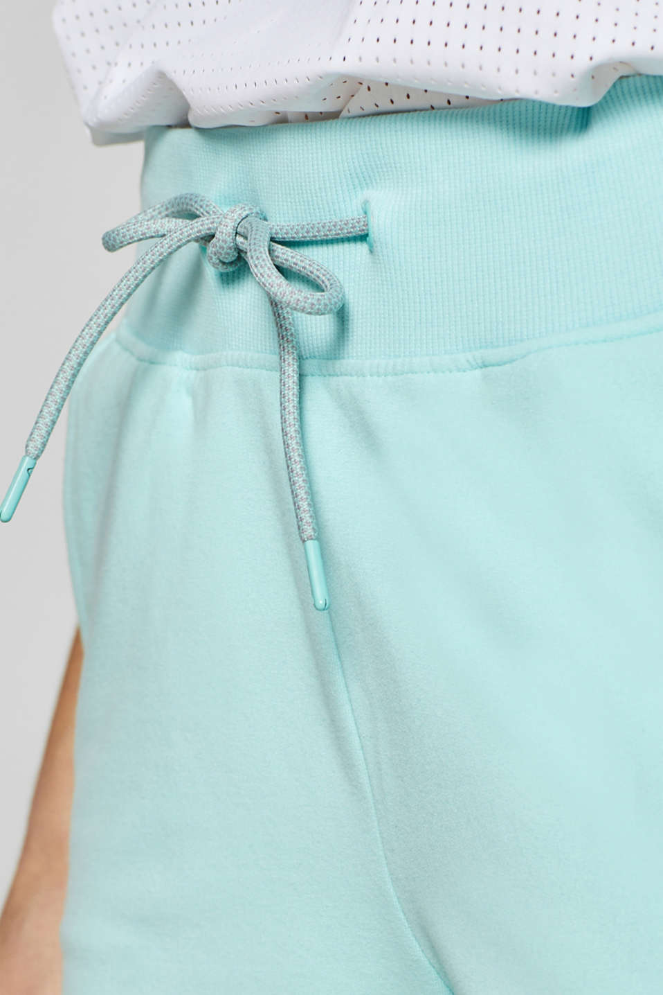 Shorts knitted, LIGHT AQUA GREEN, detail image number 4