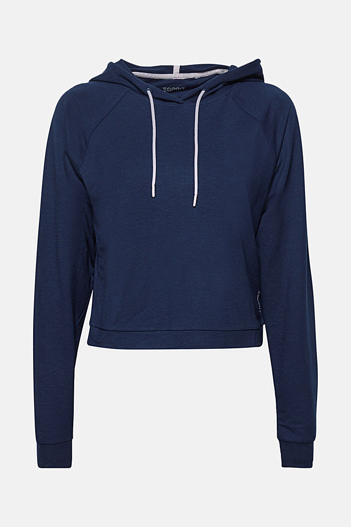 Softes Stretch-Hoodie in Boxy-Form, NAVY, detail image number 0