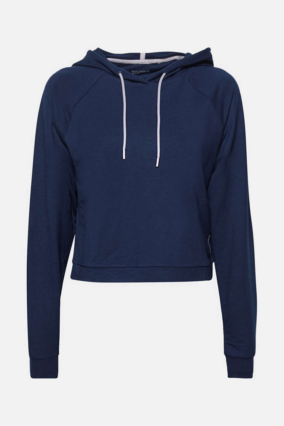 Soft stretch hoodie in a boxy design, NAVY, detail image number 7