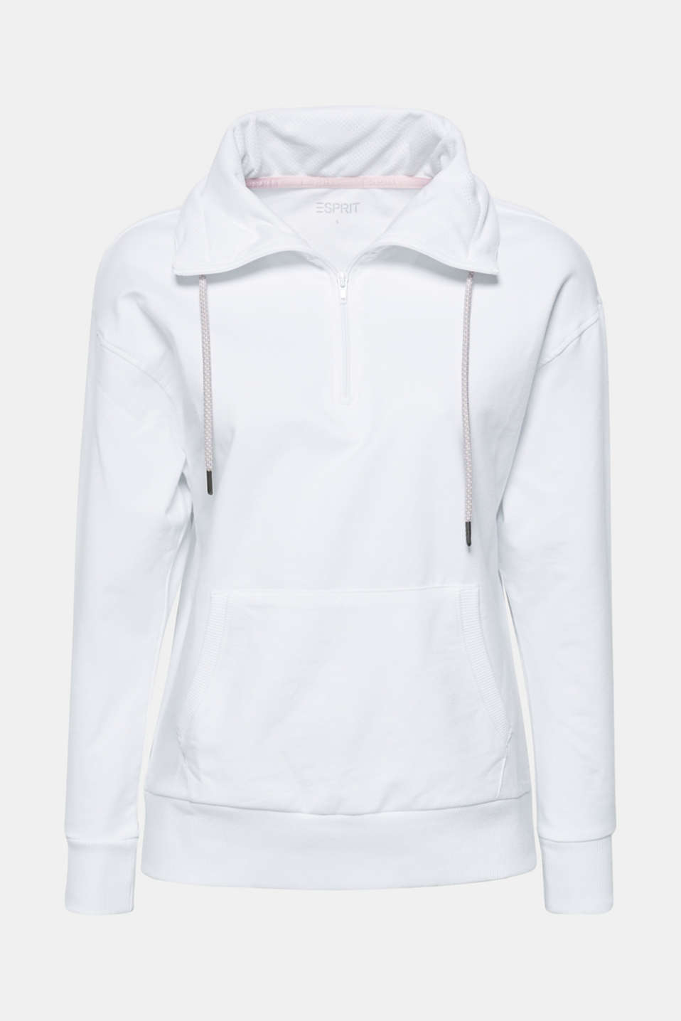 Sweatshirt with an extra deep collar, WHITE, detail image number 5