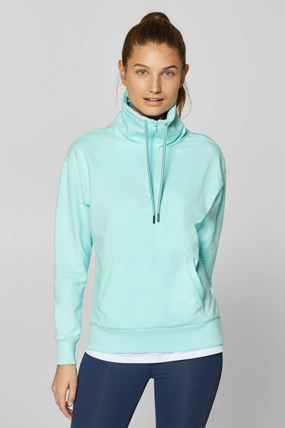 Esprit - Sweatshirt with an extra deep collar