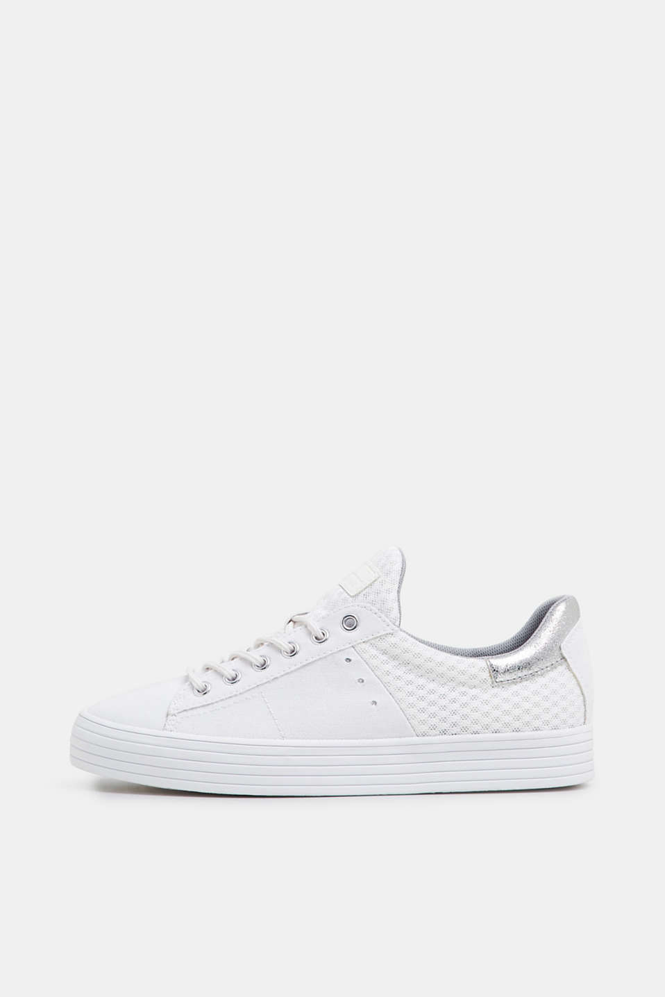 Esprit - Canvas trainers with a mesh insert