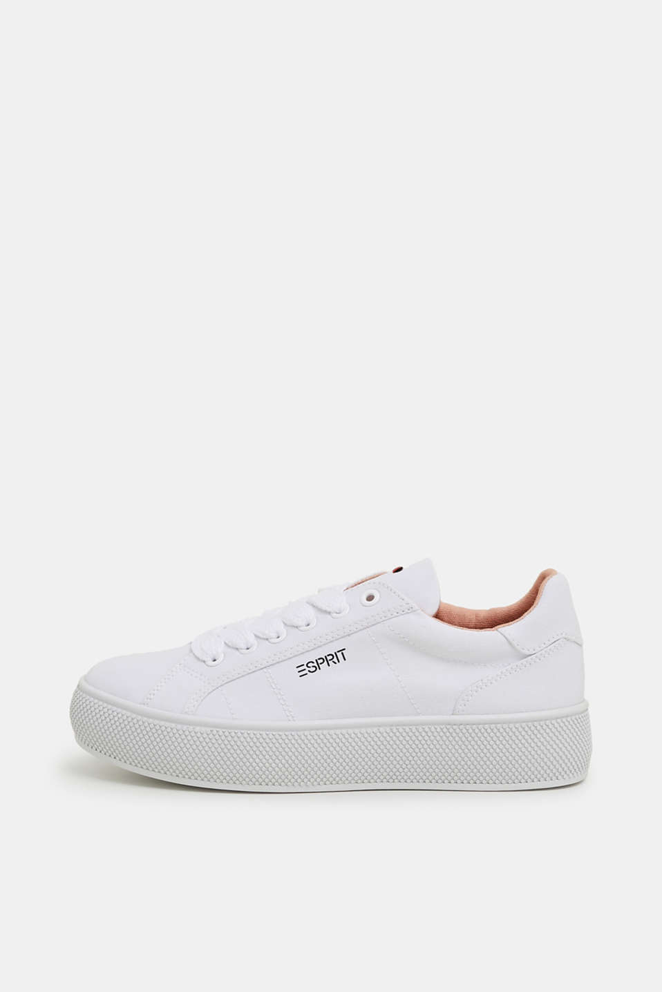 Esprit - Canvas sneakers met plateauzool