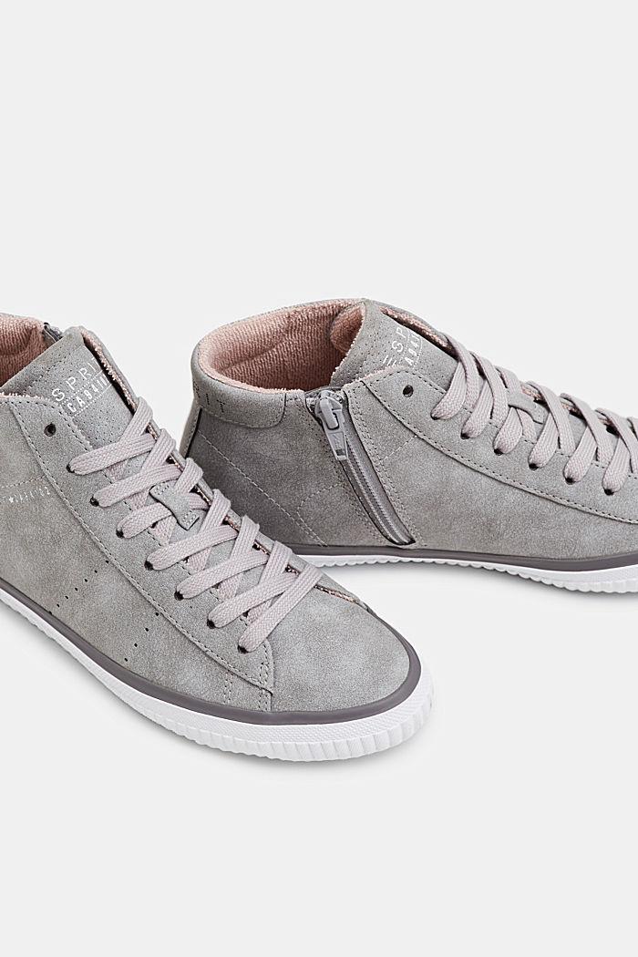 Sneakers montantes façon nubuck