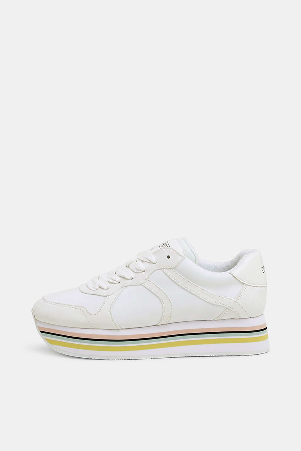 Esprit - Plateausneakers i materialemiks
