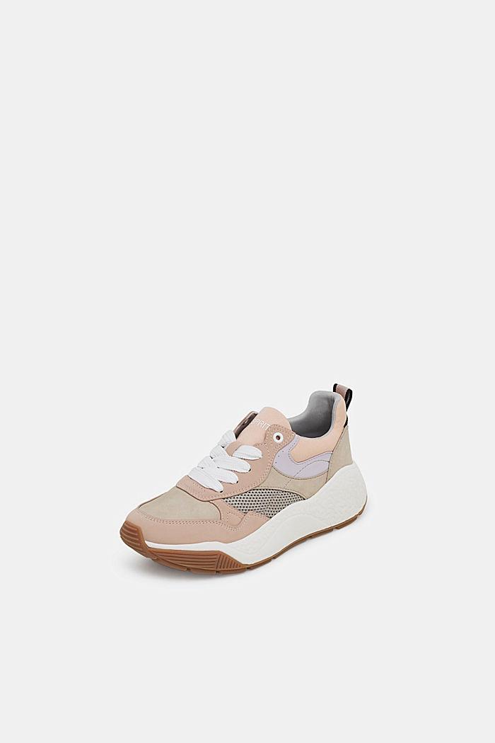 Modieuze sneakers met een oversized zool, NUDE, detail image number 2
