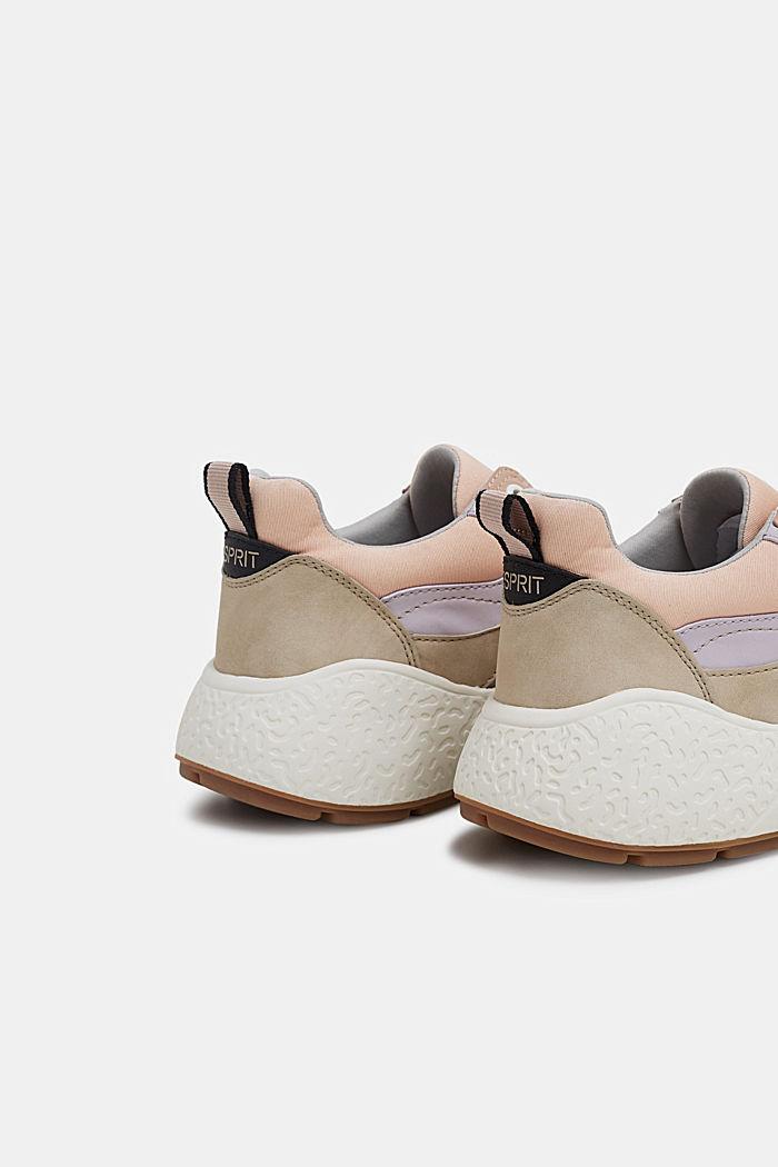 Modieuze sneakers met een oversized zool, NUDE, detail image number 4
