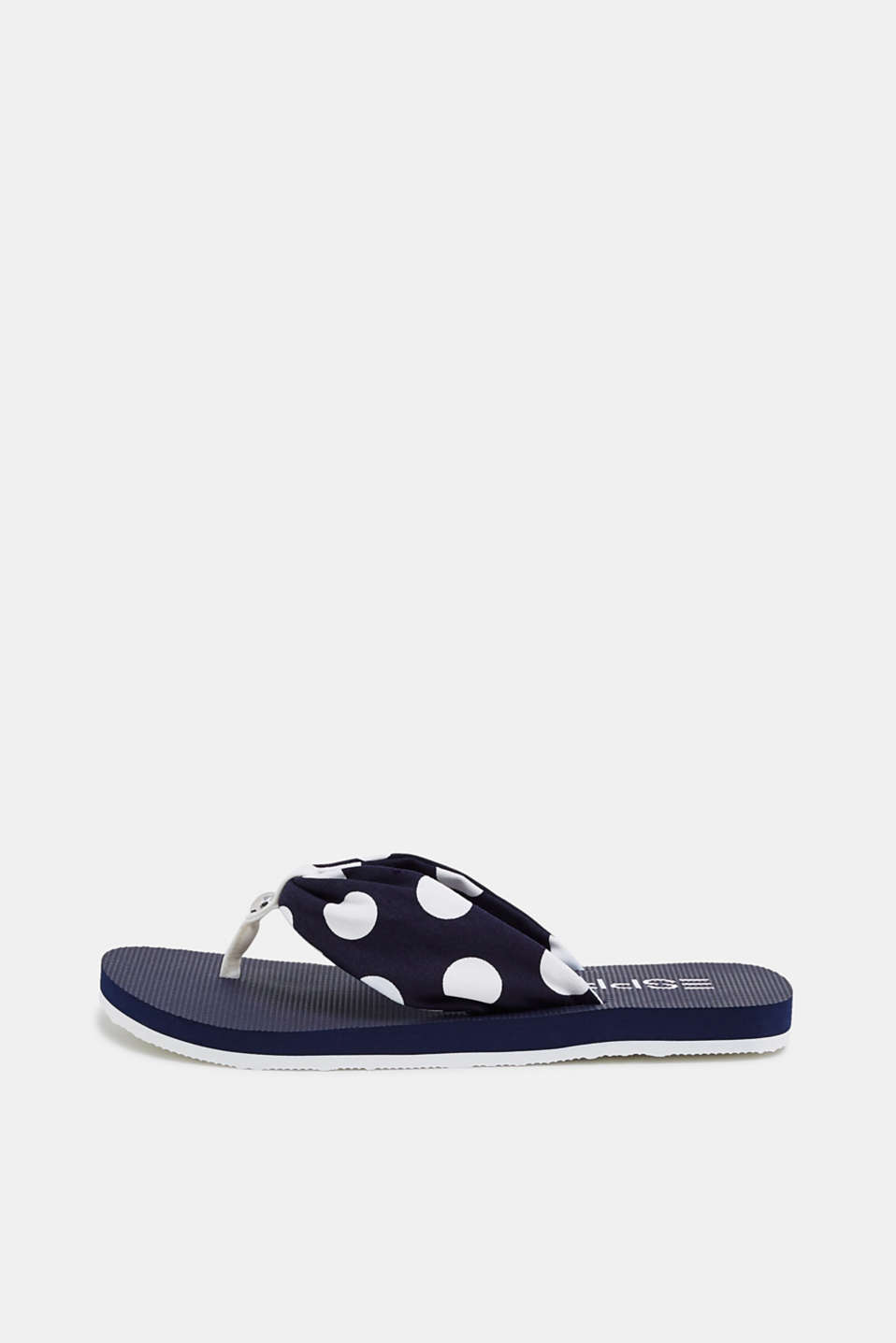 Esprit - Toe-post sandals with a polka dot woven strap