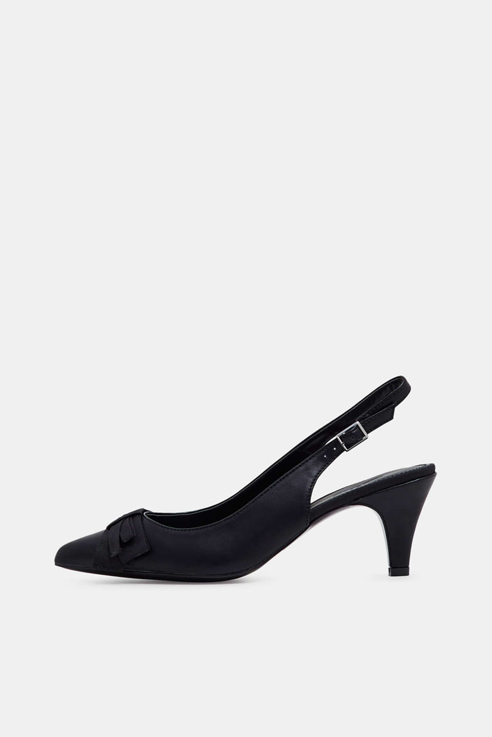 Esprit - Slingback court shoes in faux leather