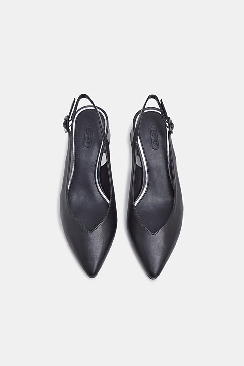 Slingback court shoes in faux leather