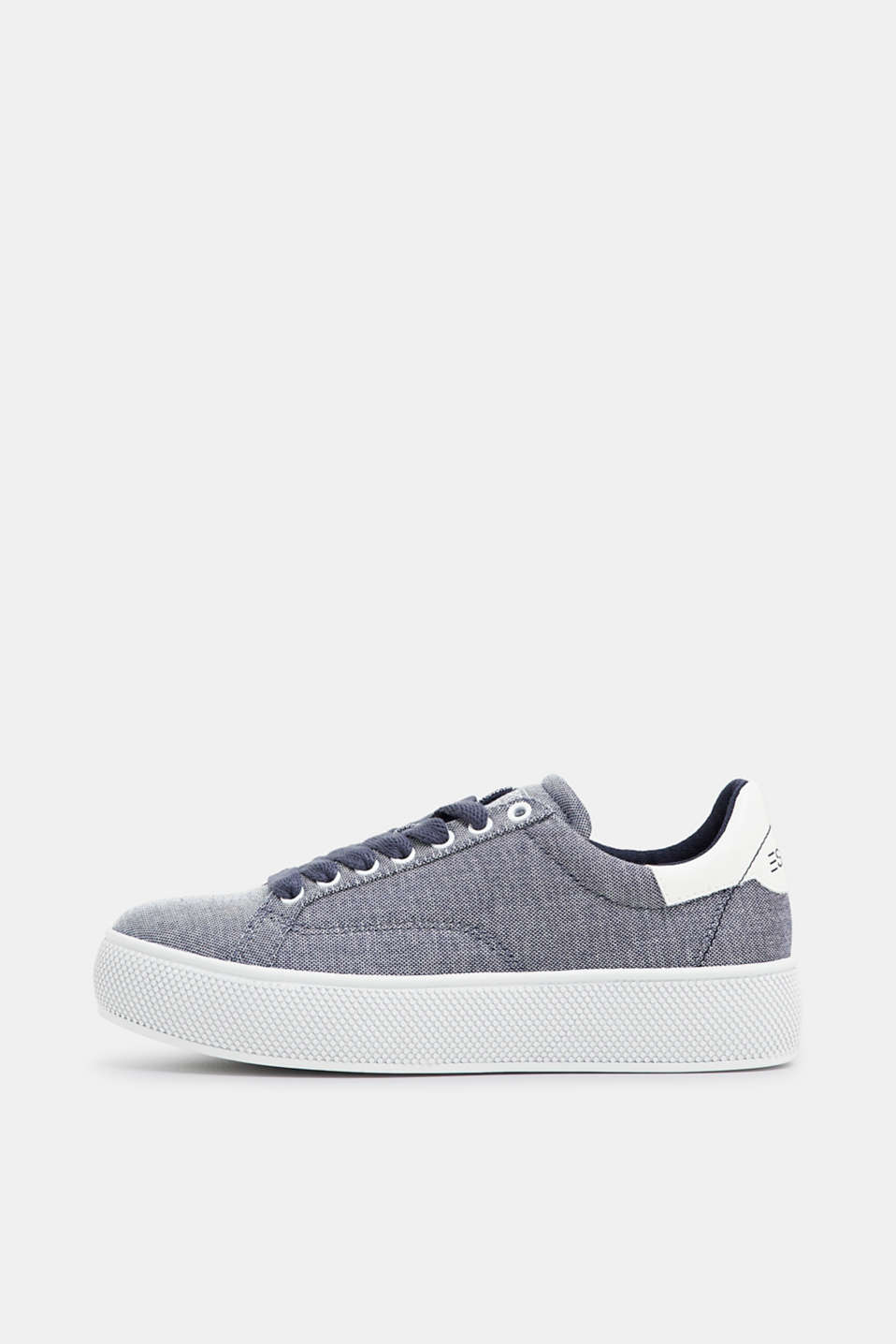 Esprit - Platform sole in melange canvas