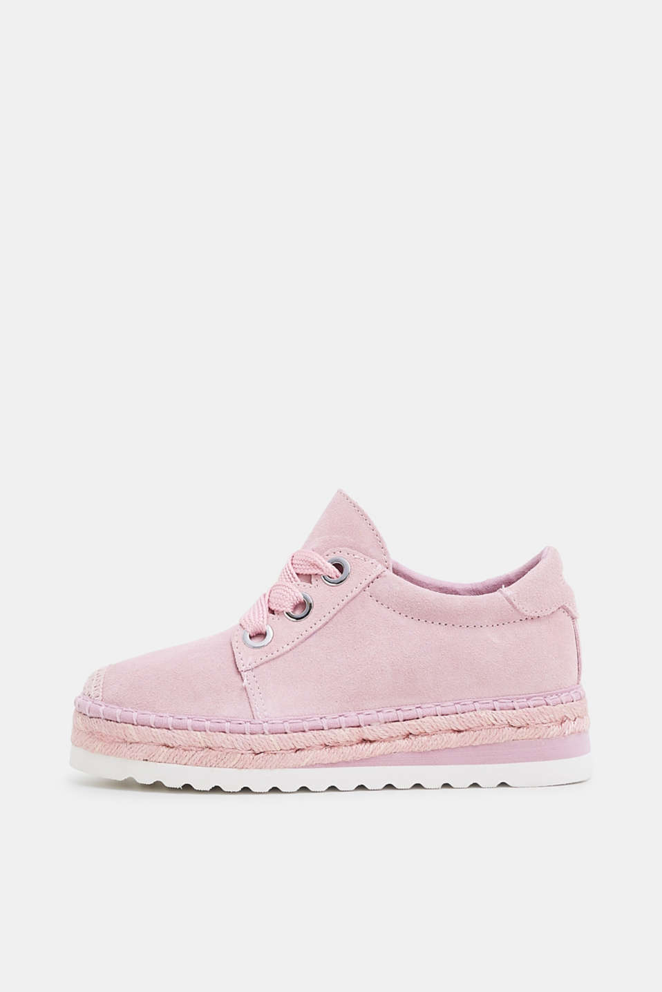 Esprit - Leather espadrille trainers