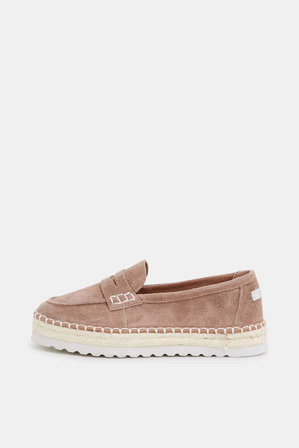 Esprit - Espadrille slip-ons in leather