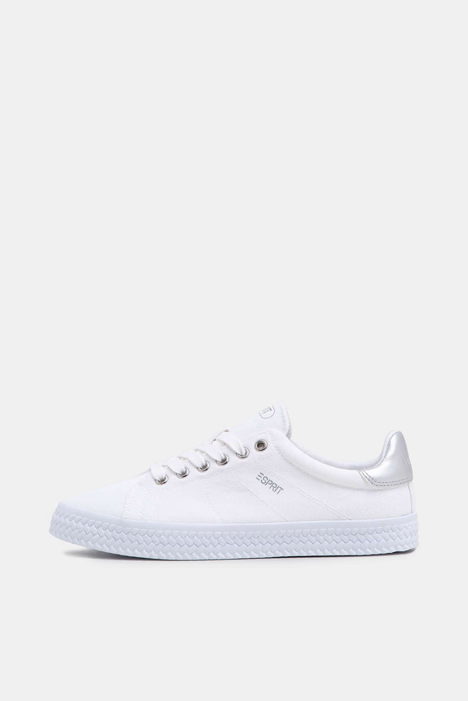Esprit - Canvas sneakers met metallic pas
