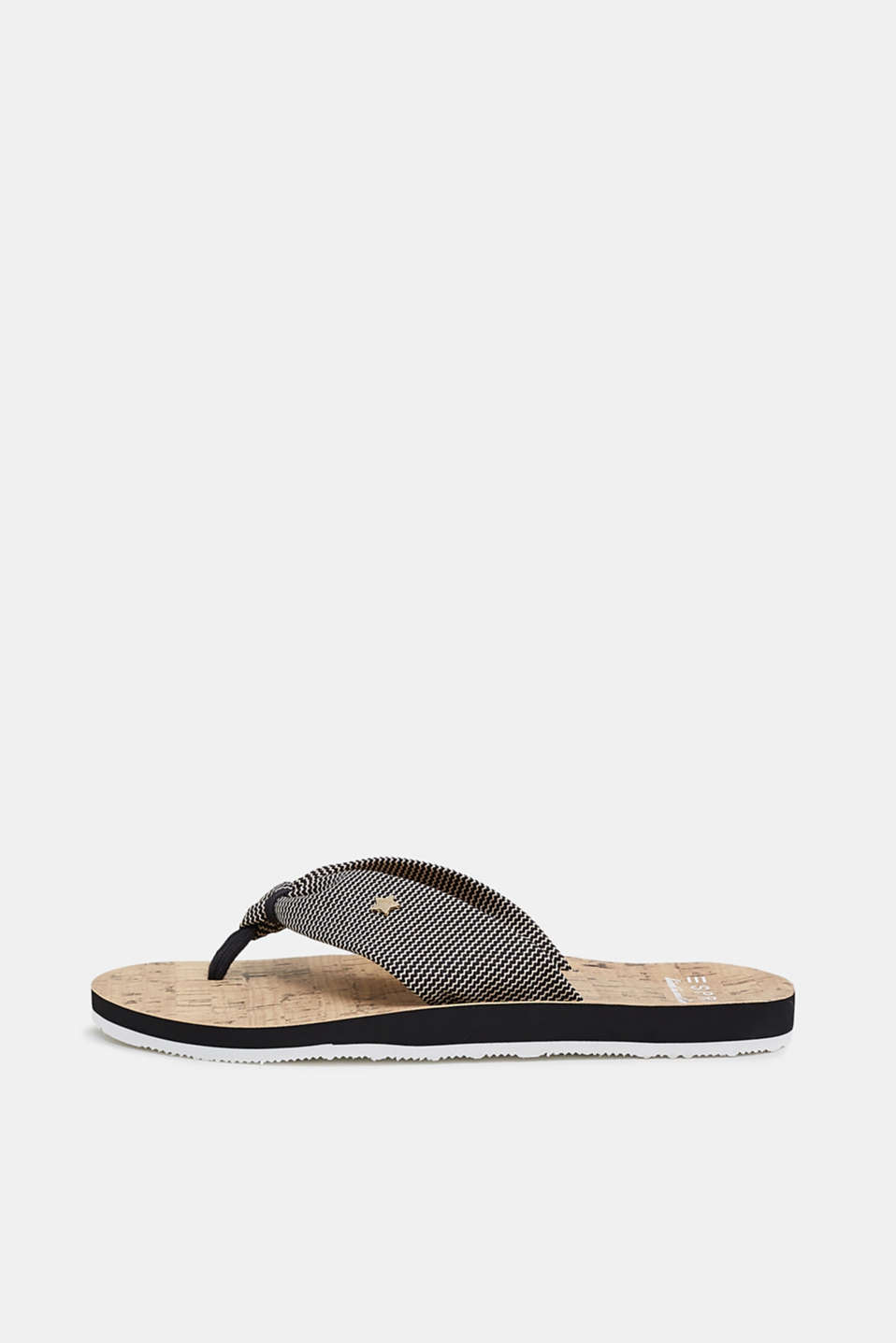 Esprit - Toe-post sandals with cork print