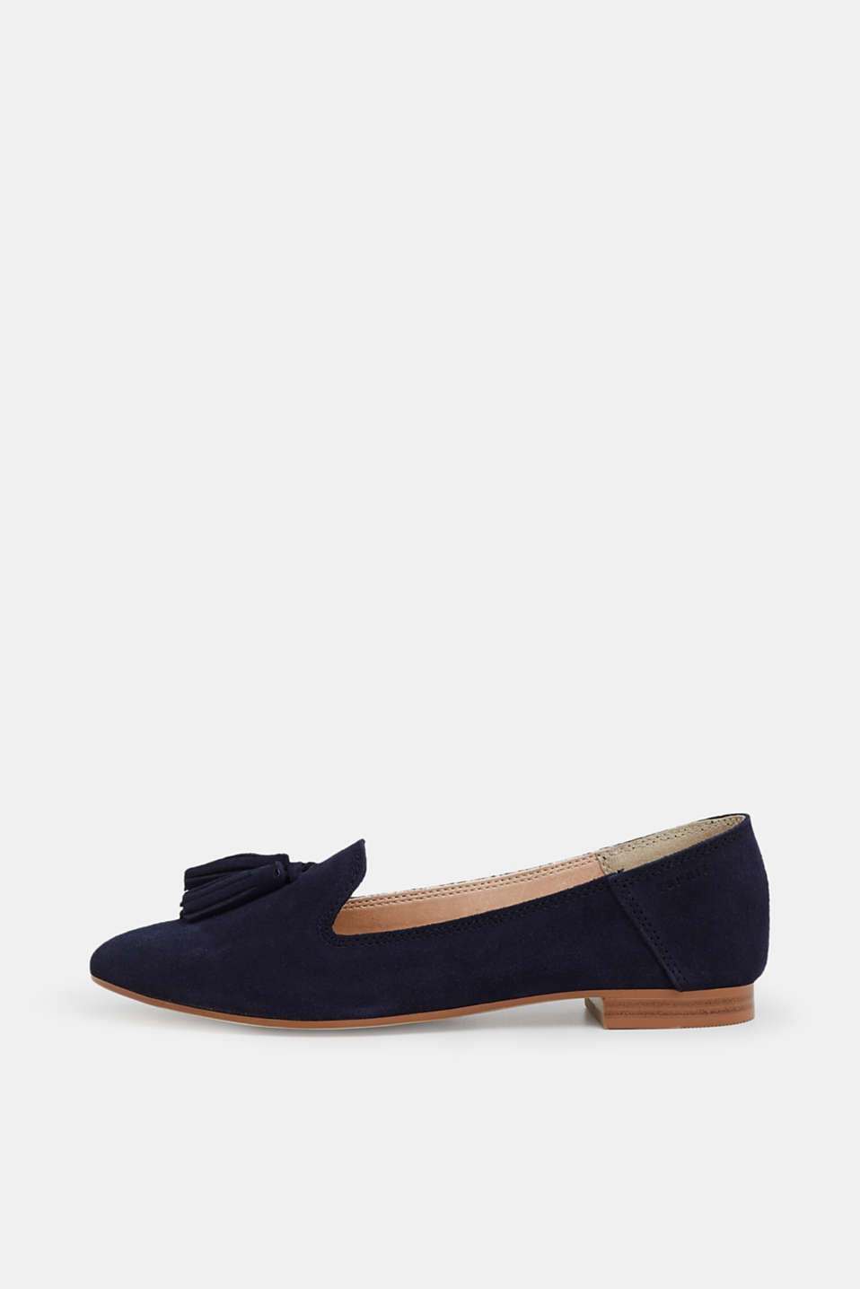 Esprit - Leather loafer with tassels, made of leather