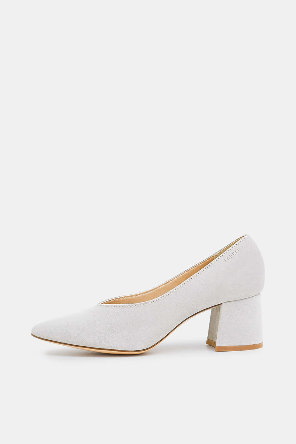 Esprit - Pointed court shows in 100% leather