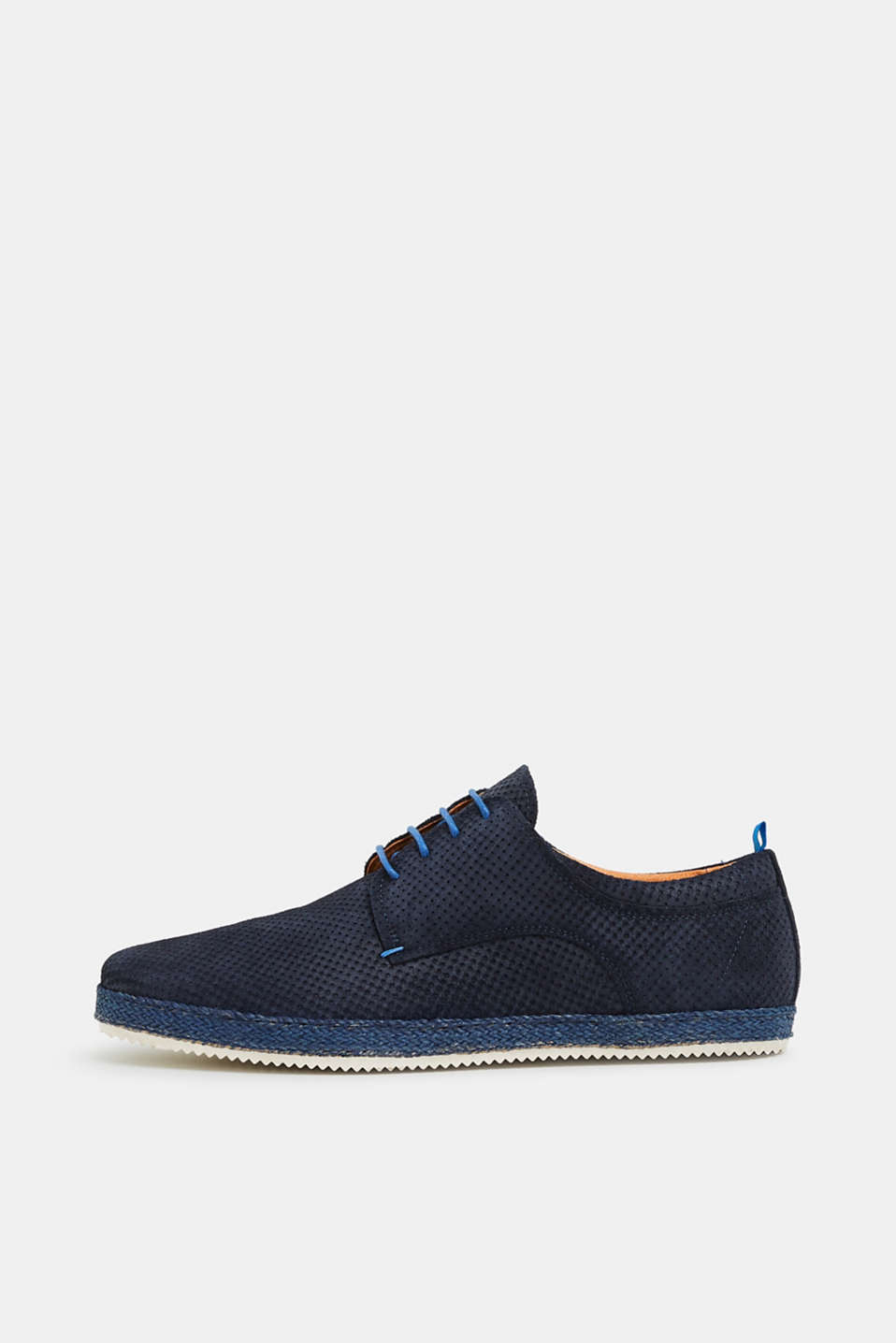 Esprit - Perforated leather lace-up
