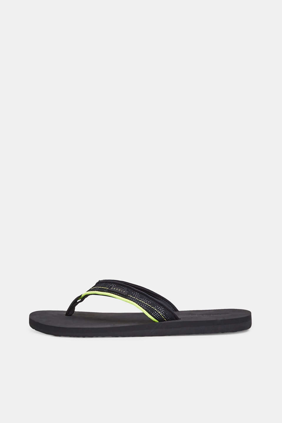 Thong sandals with a wide strap
