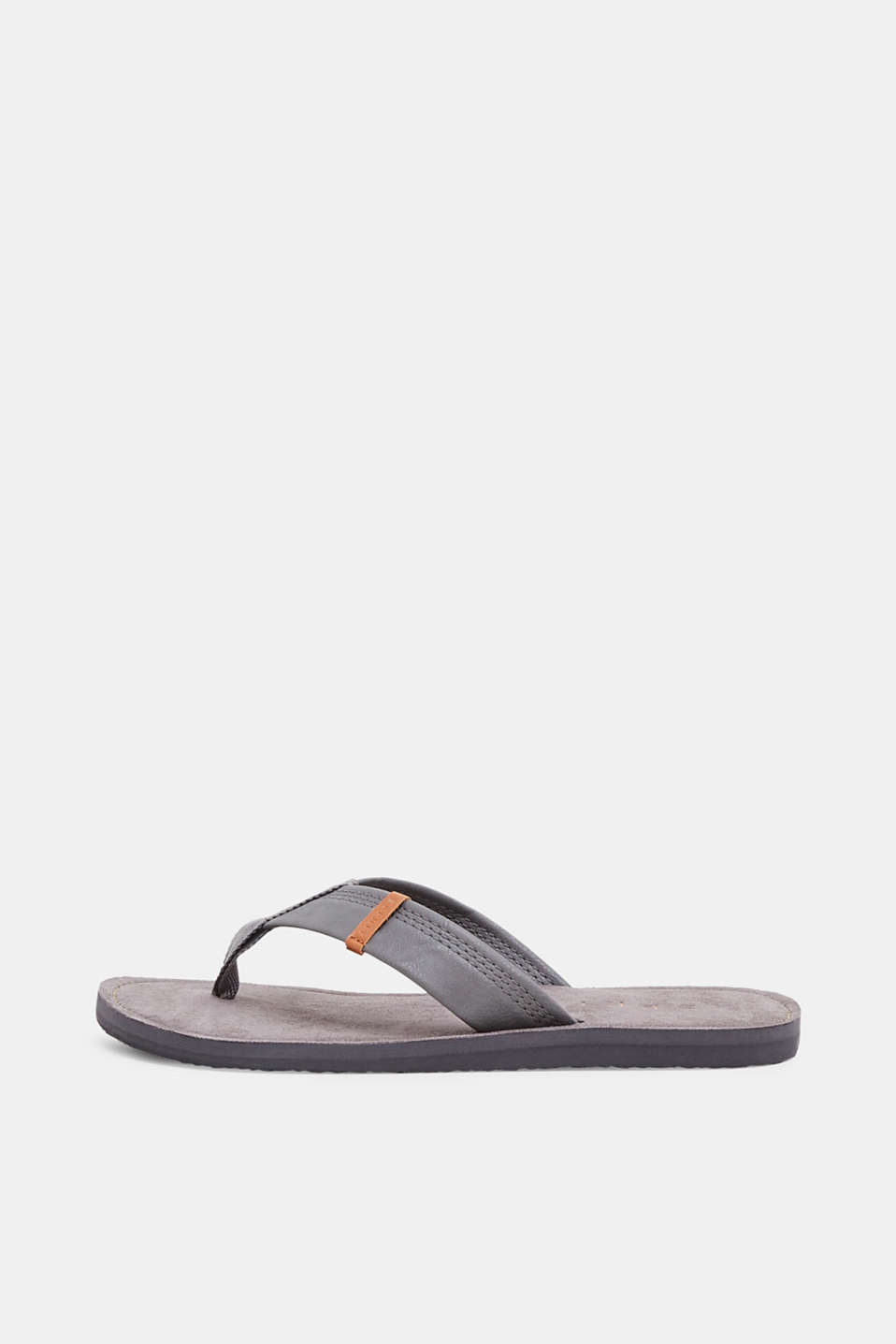Esprit - Faux suede toe-post sandals