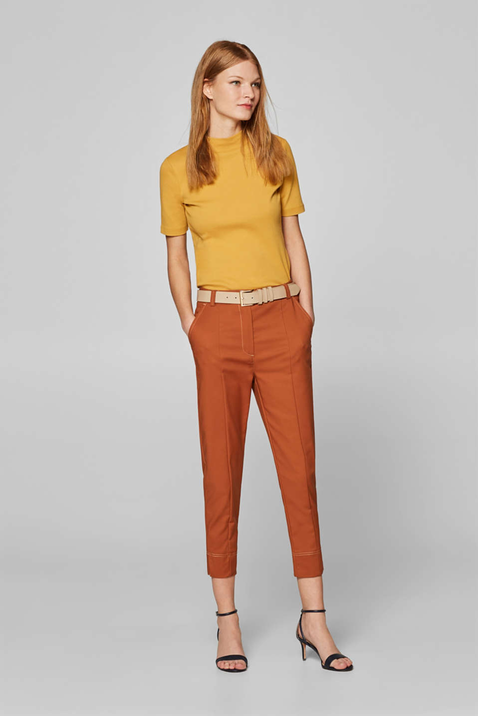 Pants woven, CARAMEL, detail image number 1