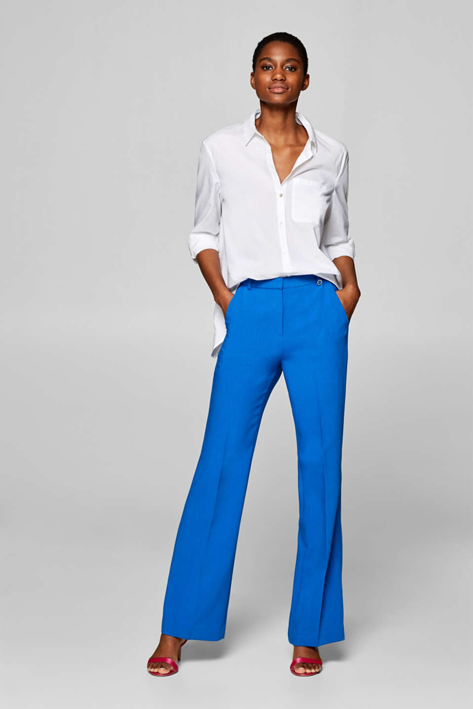 Esprit - Pantalon stretch Mix + Match SOFT STRUCTURE