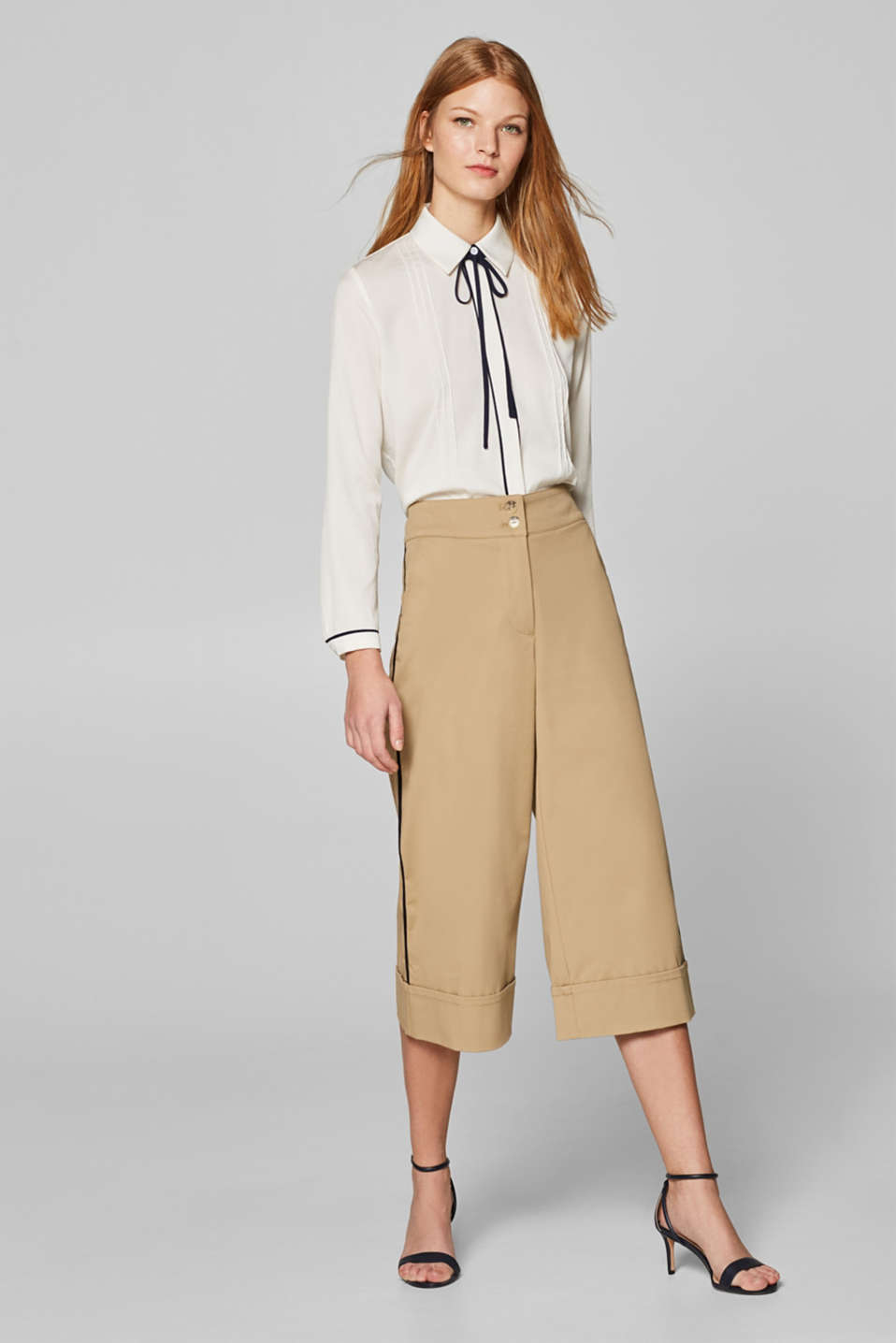 Pants woven, BEIGE, detail image number 1
