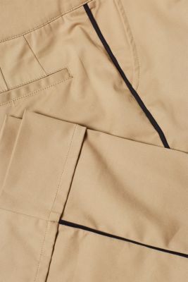 Culottes with piping at the side and stretch for comfort