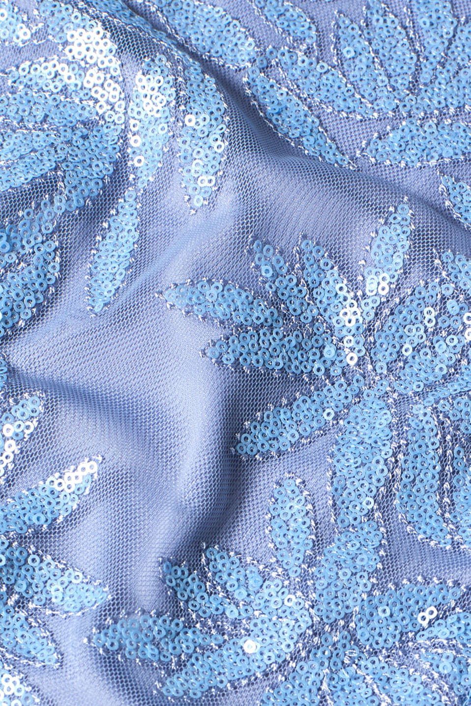 Maxi dress with sequins, made of tulle, PASTEL BLUE, detail image number 4