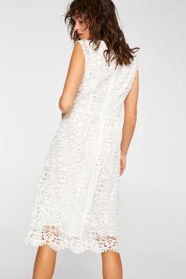 17e0edb54dcd Esprit - Midi-kjole i overdådigt blondestof i Esprits Online-Shop