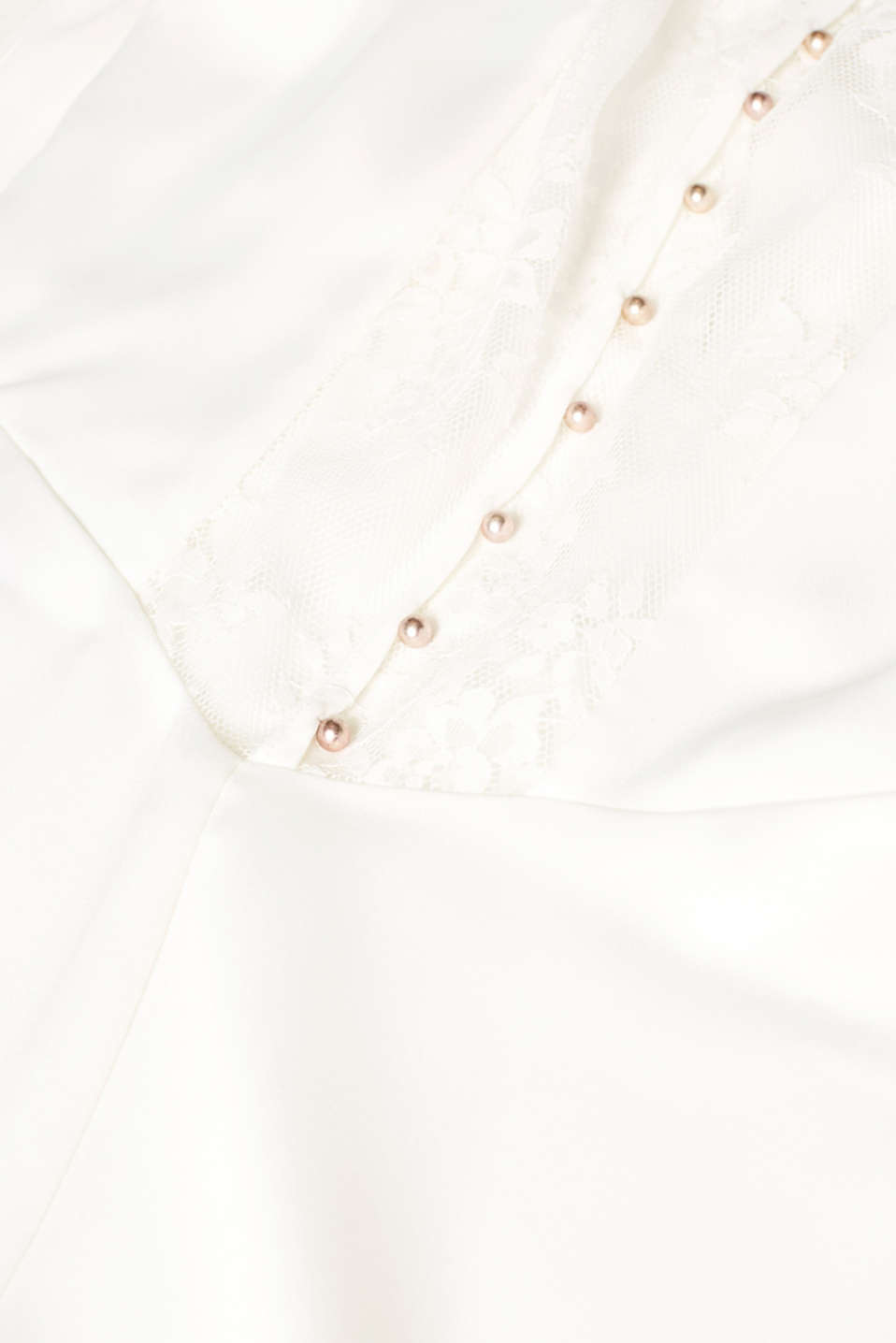Wedding dress with lace at the back, OFF WHITE, detail image number 4