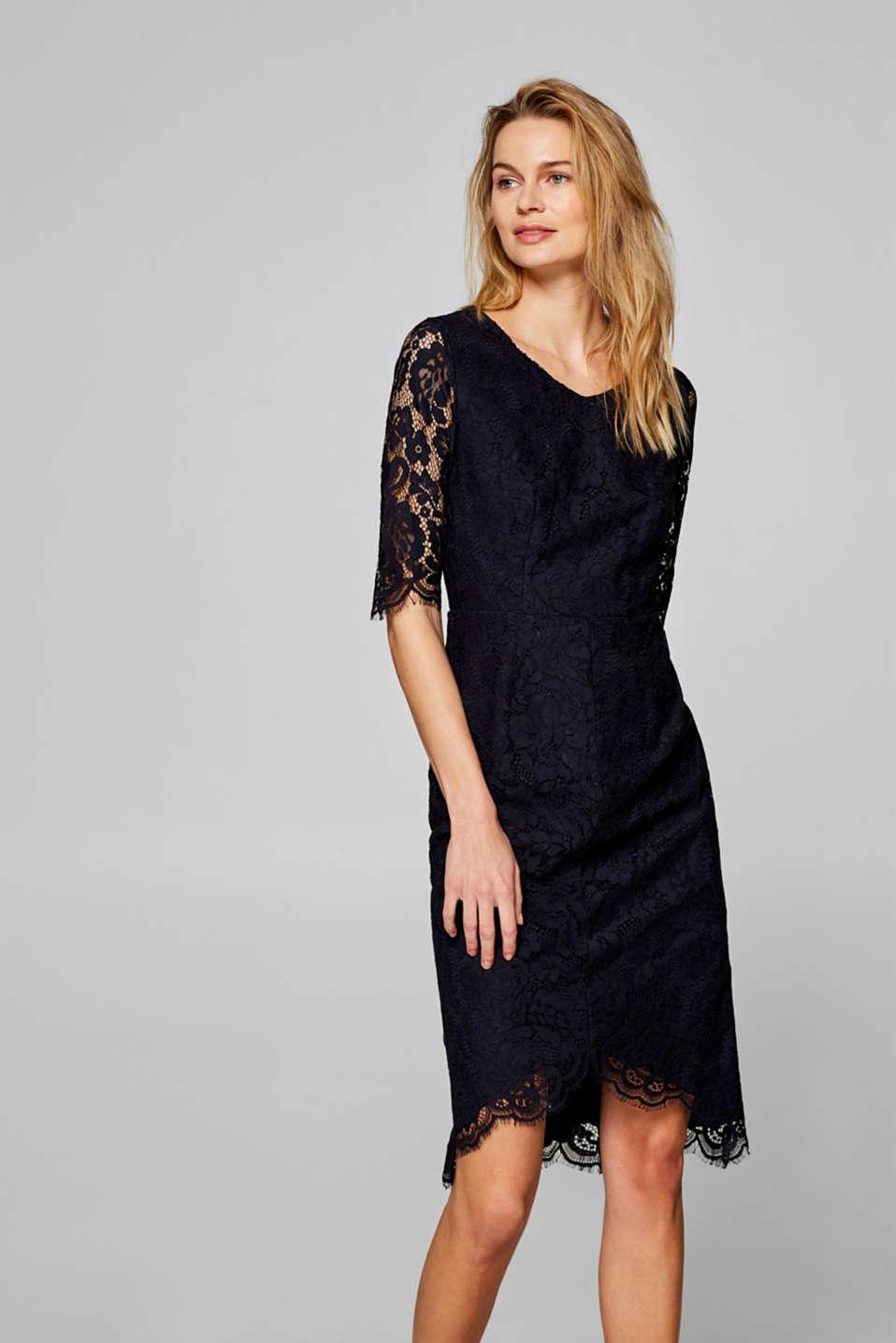 Floral lace shift dress, NAVY, detail image number 1