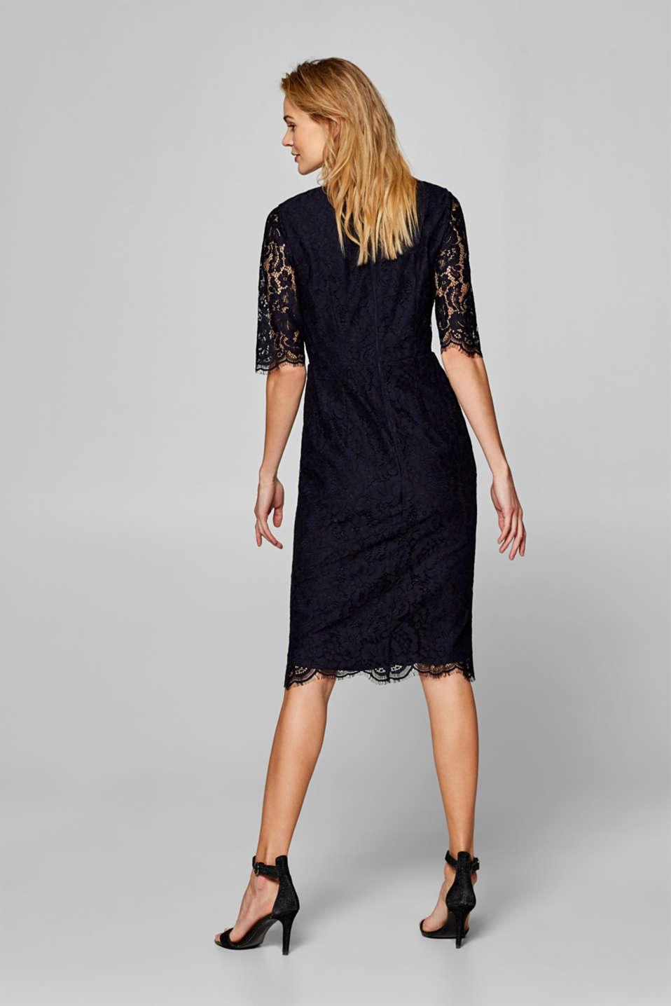 Floral lace shift dress, NAVY, detail image number 2
