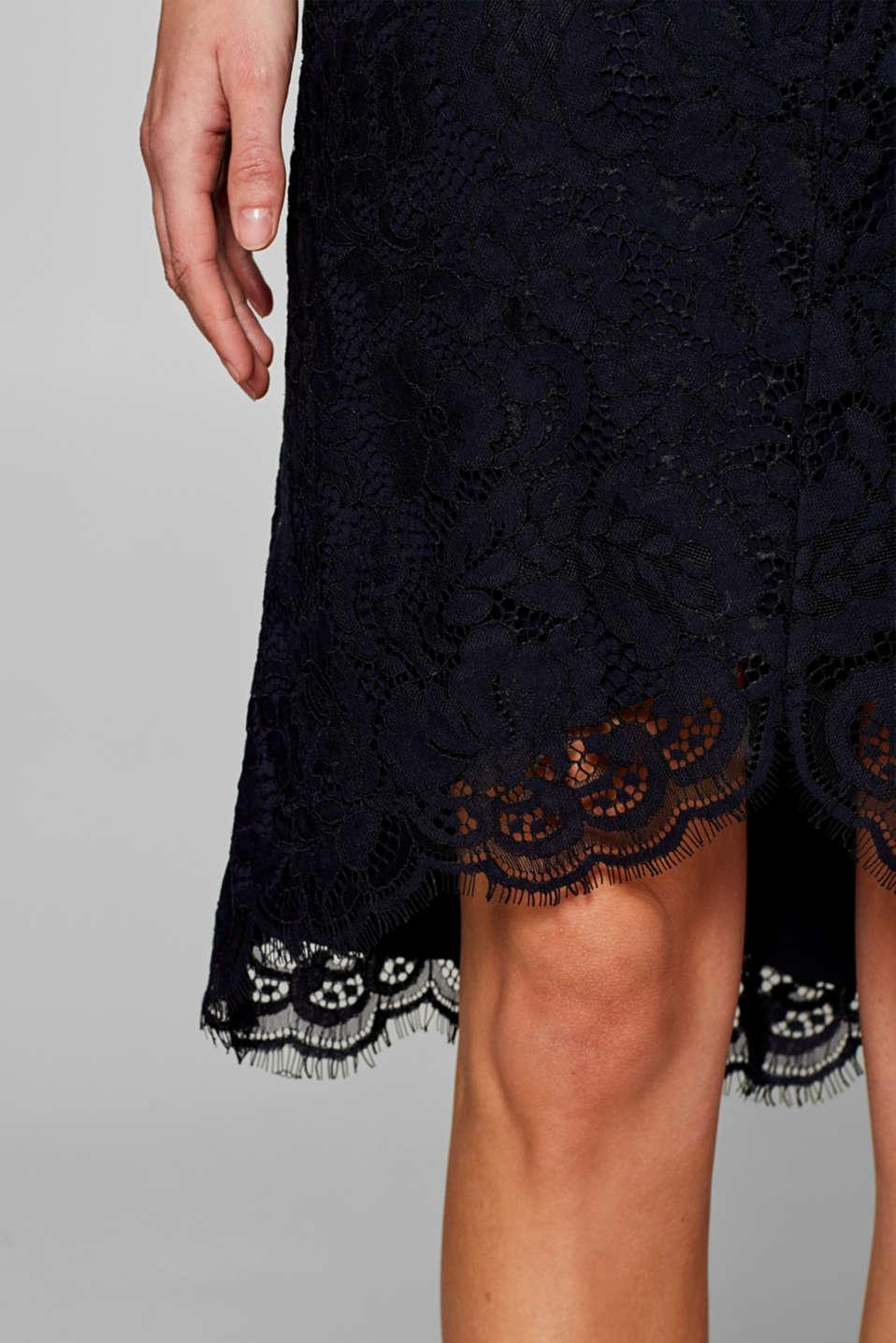 Floral lace shift dress, NAVY, detail image number 3