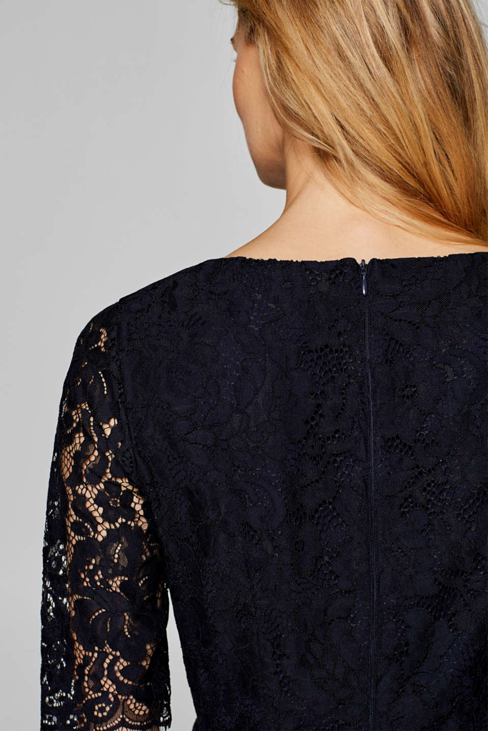 Floral lace shift dress, NAVY, detail image number 5