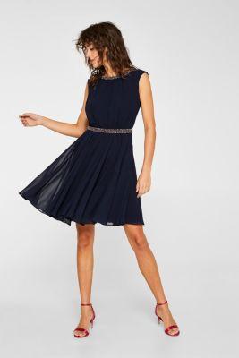 ed5d97fd15a40 Esprit - Chiffon-Kleid mit buntem Perlen-Dekor im Online Shop kaufen